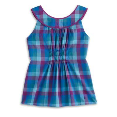 Periwinkle Plaid Top for Girls