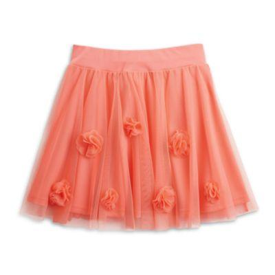 Coral Floral Skirt for Girls