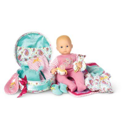 Bitty Baby Doll & Accessories Set: Blond Hair, Blue Eyes