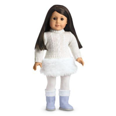 Soft-as-Snow Outfit for Dolls