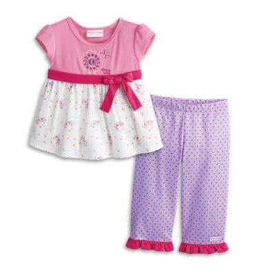 Flowers & Dots PJs for Little Girls