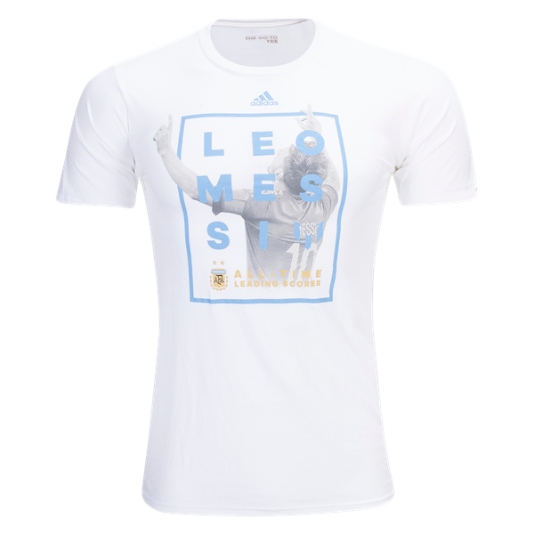 adidas Argentina Messi All-Time Scorer T-Shirt