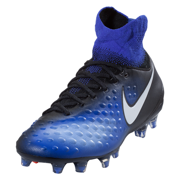 Nike Magista Obra II FG Junior - Black/White-Paramount Blue-Hyper Orange