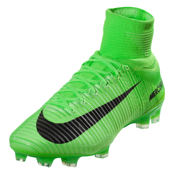Nike Mercurial Superfly V FG Soccer Cleat - Electric Green/Black/Ghost Green/White