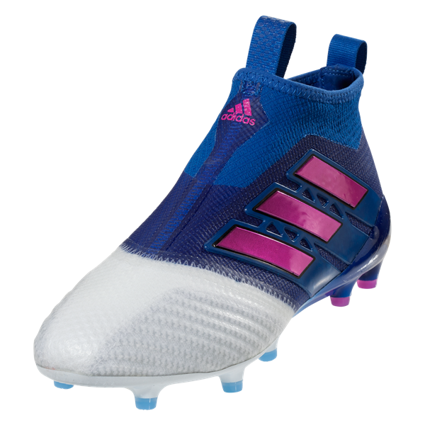 adidas ACE 17+ Purecontrol FG Soccer Cleat - Blue/Shock Pink/White