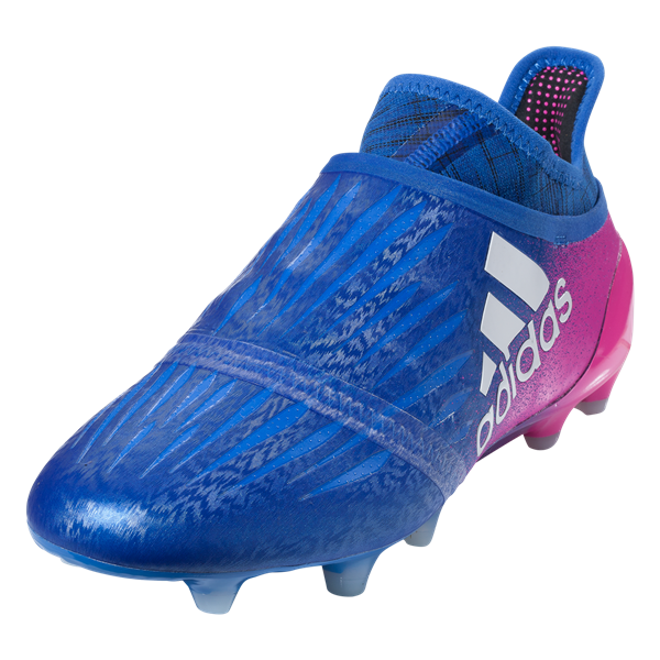adidas X 16+ Purechaos FG Soccer Cleat - Blue/White/Shock Pink