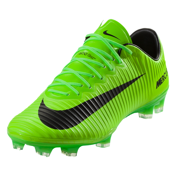 Nike Mercurial Vapor XI FG Soccer Cleat - Electric Green/Black/Ghost Green/White