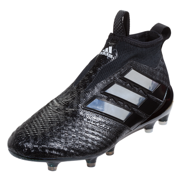 adidas ACE 17+ Purecontrol Soccer Cleat - Black/White/Black