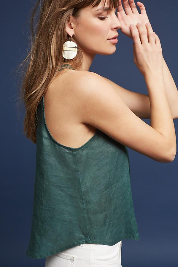 Sleeveless Linen Swing Top