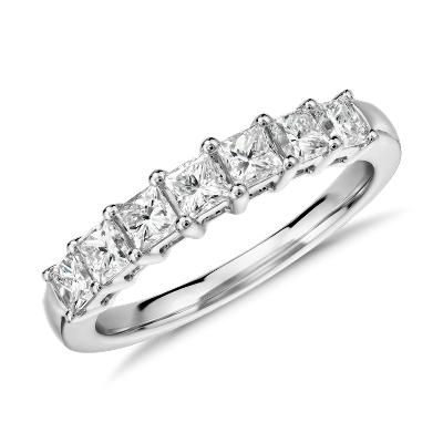 NEW Seven Stone Princess Cut Diamond Ring in 18k White Gold (1.5 ct. tw.)
