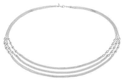 Shiny Infinity Link Necklace in Sterling Silver