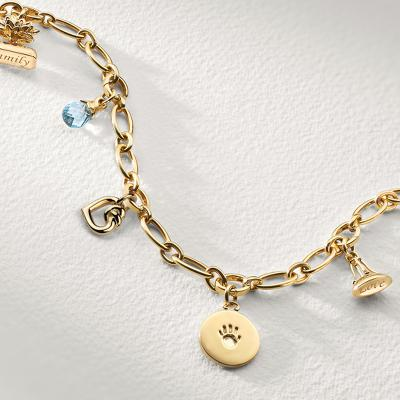 Five-Charm Family Heirloom Bracelet in 18k Yellow Gold