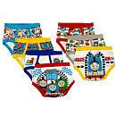 Thomas & Friends Boys 7 Pack Blue/Red/Yellow/Grey Assorted Printed Underwear - Toddler