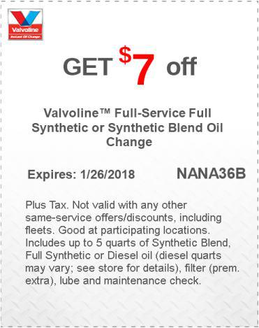 Synthetic Oil Change Coupon >> 20% Off Valvoline Coupons & Promo Codes Aug. 2019