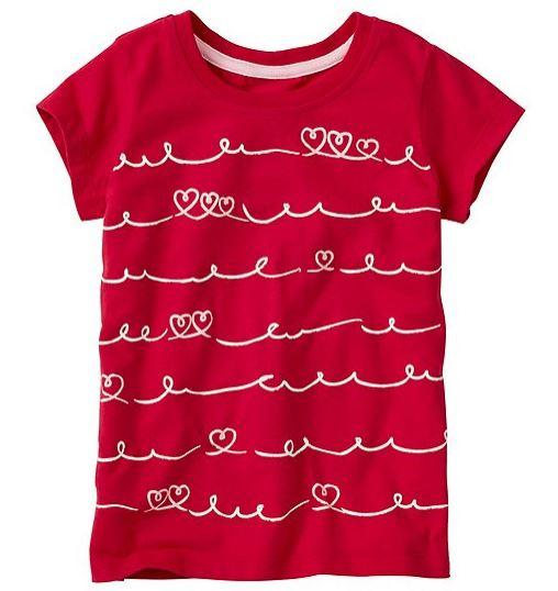 Crafted Girls Art Tee In Supersoft Jersey With Front Mixed Media Screenprint