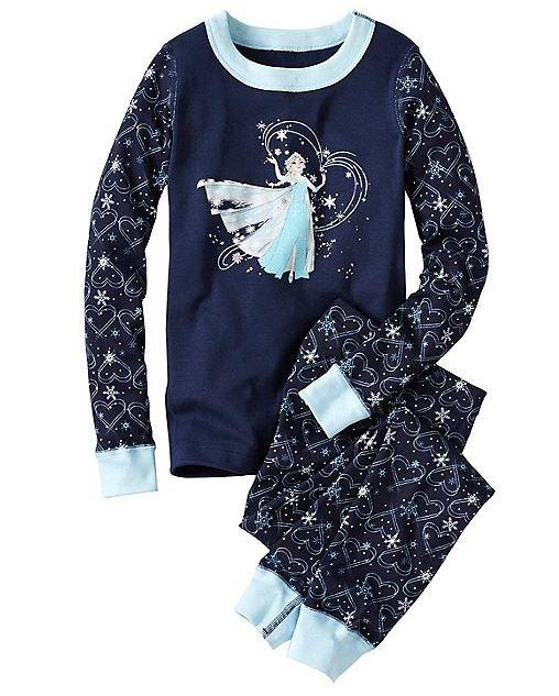 Prewashed Kids Disney Frozen Long John Pajamas In Organic Cotton With Comfy Encased Stretch Waist