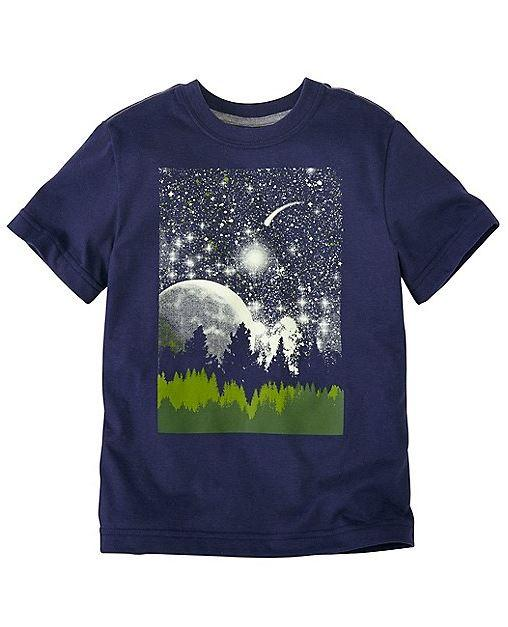 Prewashed Boys Art Tee In Supersoft Jersey With Front Screenprint