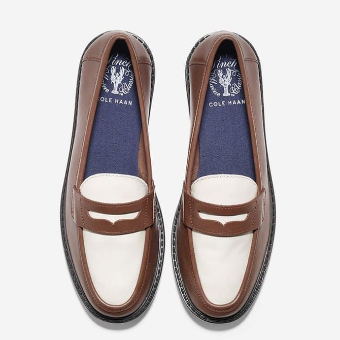 Enjoy 29% Off Women's Pinch Campus Penny Sequoia-ivory Leather Loafer