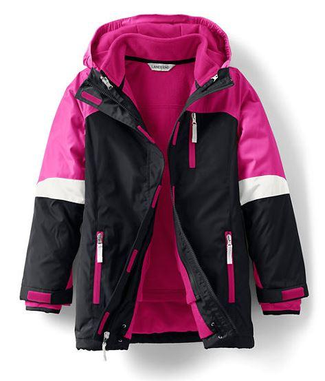 Black Girl's Stormer 3-In-1 Parka By Lands' End