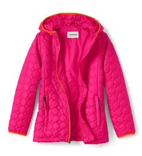 Magenta Rose Girls Packable Primaloft Jacket