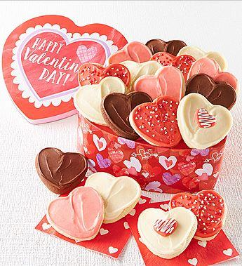 A Valentine Heart Shaped Cut-Out Gift Tin