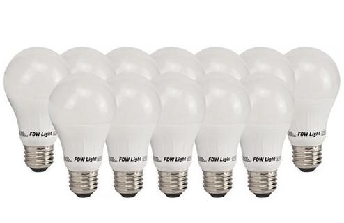 12 Pack Of A1912 60W Equivalent SlimStyle A19 Soft White 2700K LED Light Bulb