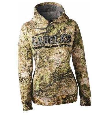 S-2XL Cabela's Women's ColorPhase Hunt Hoodie