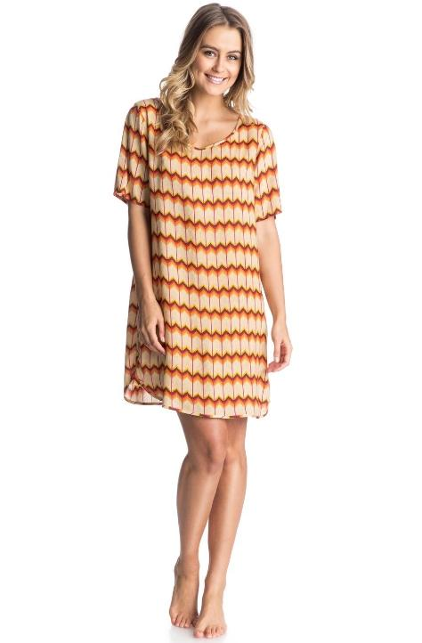Lark Dakota Geo Pattern Retro Row Dress