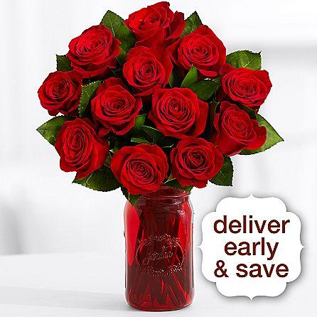 Approximately 16 Inch Tall Dozen Of Red Roses