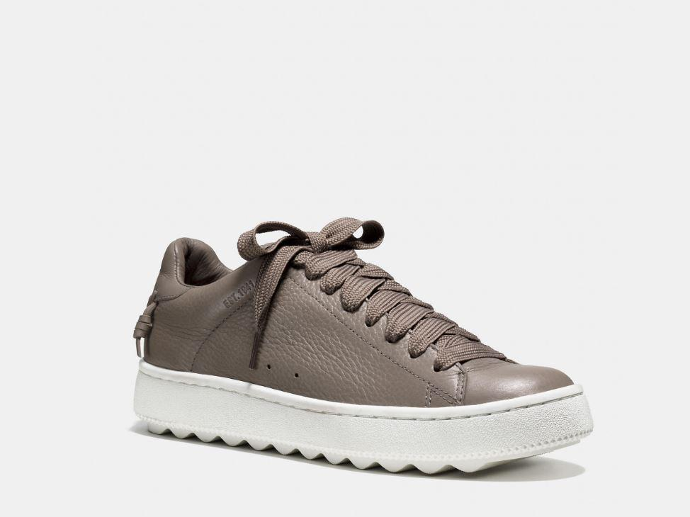 Smooth And Fine-Grained Leathers Coach Sneaker