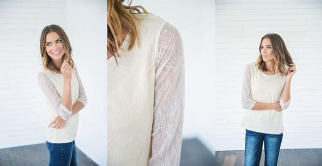 Soft Sleeve Blouse Lace
