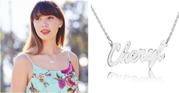Sterling Silver Personalized Necklace