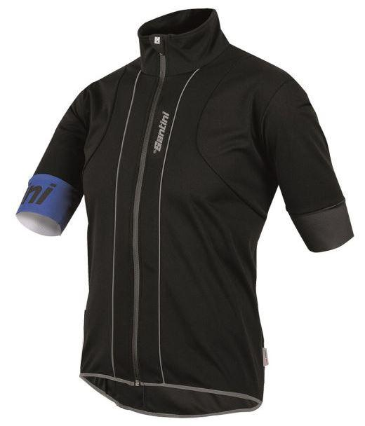 Black Santini Reef Water With Wind Short Sleeve Jersey