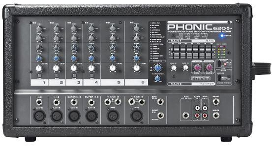 200 Watt Phonic POWERPOD 620 PLUS 200 6-Channel Powered Mixer