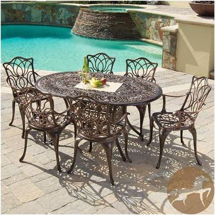 Aluminum Christopher Knight Home Haitian Cast Outdoor Dining Set