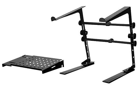 Adjustable DR Pro DJ Laptop Stand and Shelf Bundle Black