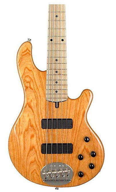 Electric Lakland Skyline 55-01 5-String Bass Guitar Natural Maple Fretboard