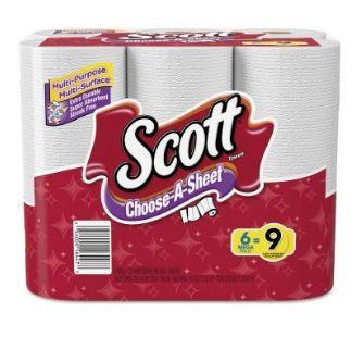 Mega Roll Scott Towels White- 6 Ct- 340.8 Sq-Ft