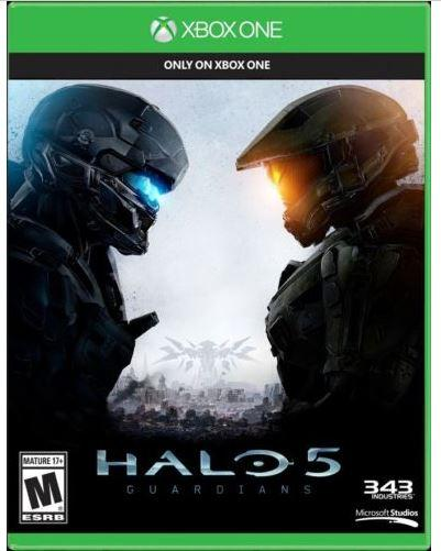 New Microsoft Blu-Ray DVD  Xbox One Halo 5 Guardians Physical Game