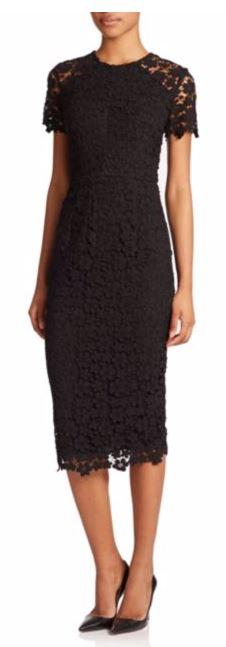 Rubber And Synthetic Sole Shoshanna Beaux Guipure Lace Sheath Dress
