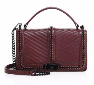 Stylish Rebecca Minkoff Love Leather Crossbody Bag