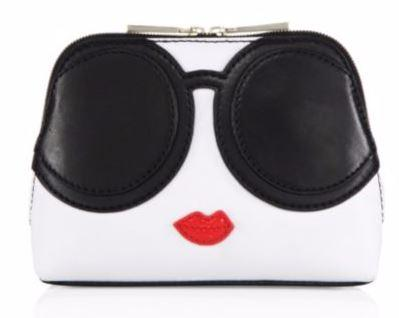 Two-Way Zip Olivia Stace Face Cosmetic Case