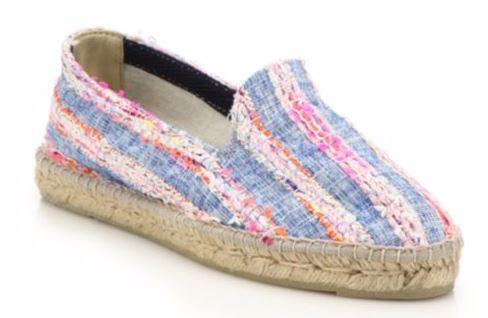 Jute Sole Manebi Ibiza Tweed And Denim Stripe Espadrille Flats
