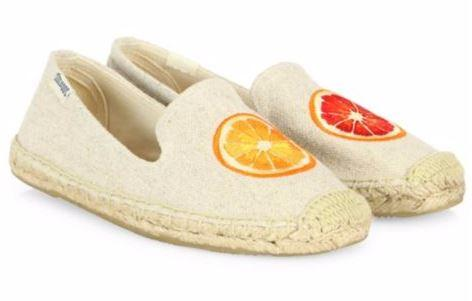 Get 32% Soludos Embroidered Oranges Espadrilles Canvas