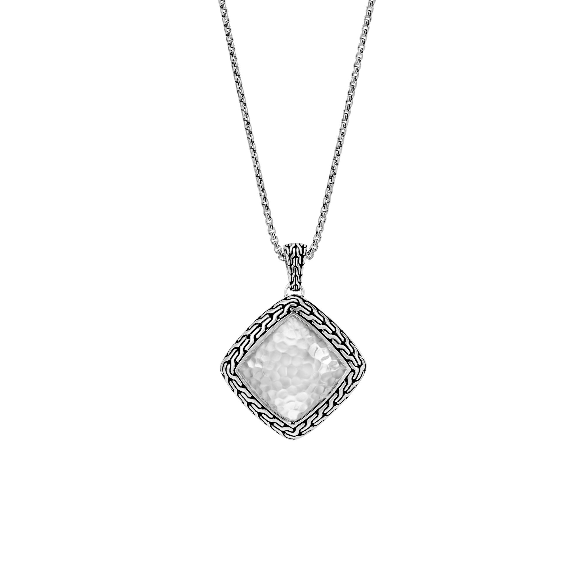 Hammered Classic Chain Pendant Necklace