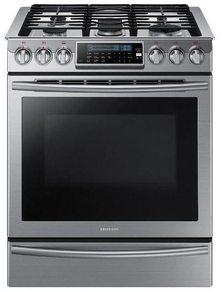 Samsung Stainless Steel NX58H9500WS 5.8 cu. ft. Slide-In Gas Range w/ Intuitive Controls Oven