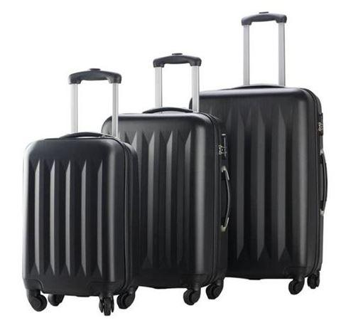 Telescopic Handle Hardside Luggage Spinners Set Plus Built In Combination Lock