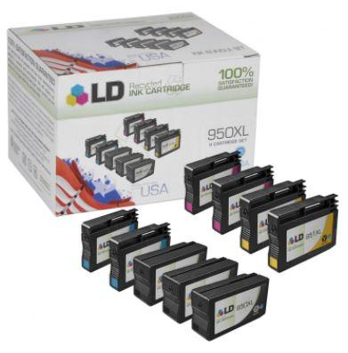 HP 950XL / 951XL Replacement Ink Cartridges Set of 9