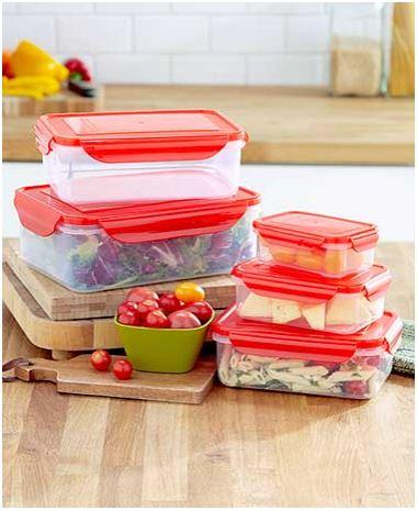 10-Pc. Locking Food Storage Sets
