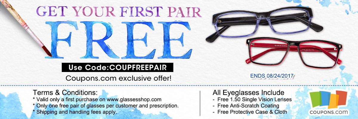 Get Your First Pair Of Glasses Free